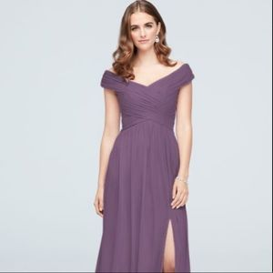 Davids Bridal- Off-the-Shoulder Bridesmaid Dress